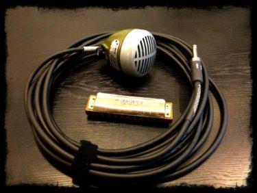 10月25日 – ハーモニカマイク shure 520DX ケーブル交換