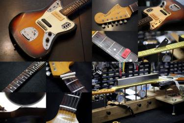 Fender Japan Jaguar – フレットすり合わせ、ナット交換