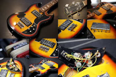 Teisco SG Type Bass – ポット交換、メンテナンス
