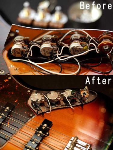 01月14日 – Fender Jazz Bass rewiring