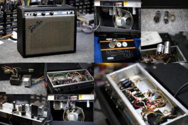 Fender Champ AA764 シルバーフェイス – トランス交換、オーバーホール