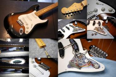 Fender Japan Stratocaster – 全体調整、ポット交換