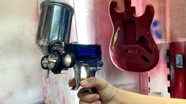 🌸スタッフ さくら – Fホールアッシュストラトキャスター #3 Luma III Spray Gun Light / スプレーガンにライトをつけてみた!!